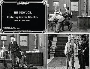 Chicago film industry - His New Job featuring Charlie Chaplin at Essanay Studios, Chicago