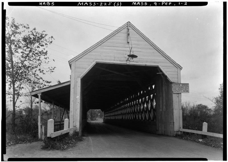 Historic American Buildings Survey Frank O. Branzetti, Photographer Oct. 17, 1940 (b) EXT.-NORTH ELEVATION - Nehemiah Jewett Bridge, Groton Street, spanning Nashua River, Pepperell HABS MASS,9-PEP,1-2