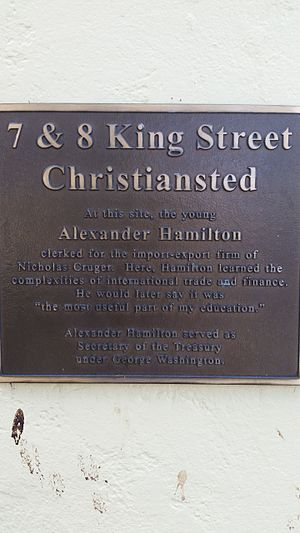 Saint Croix, U.S. Virgin Islands - Historical marker for Alexander Hamilton