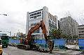 Hitachi Zaxis 135US Excavator Digging in Section 7, Shimin Blvd, Taipei 20141220.jpg