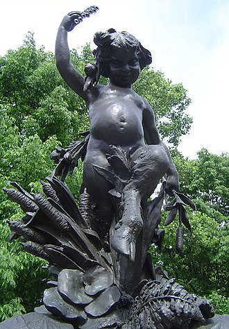 Enid Yandell - Statue of Pan, detail of Hogan's Fountain (1905) in Cherokee Park in Louisville