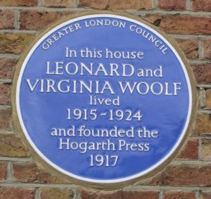 Hogarth Press - Blue plaque
