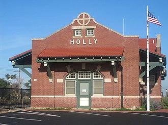 Holly, Colorado - Former Holly Santa Fe Depot, turned town hall