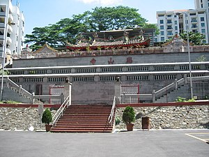 Hong San See - Hong San See Temple was sited on a small hill for good feng shui, and once had a view of the sea.