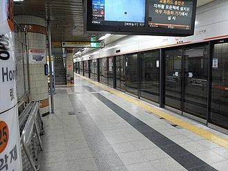 Hongje station - Image: Hongje Station Platform