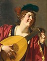 Honthorst - A WOMAN TUNING A LUTE, lot.39.jpg