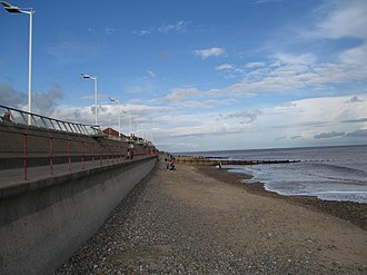 Geology of England - Hornsea where soft glacial deposits are suffering from coastal erosion