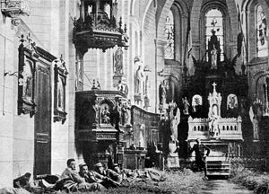 Aubigny-les-Pothées - The Church used as a hospital in the First World War