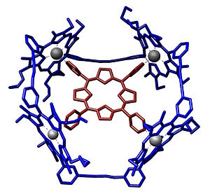 Supramolecular chemistry - Image: Host Guest Complex Porphyrin Sanders Angew Chem Int Ed Engl 1995 1096