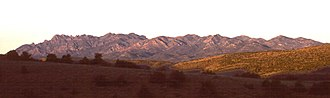 Hot Creek Range - The Hot Creek Range, including Morey Peak, looking southwest at sunrise