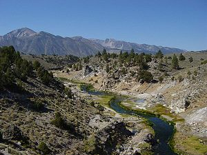 Hot Creek, in the Long Valley Caldera within t...