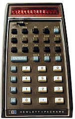 Hewlett-Packard HP-35, the first handheld scientific calculator<br />Photographed by Holger Weihe (2005)<br />Source: https://en.wikipedia.org/wiki/File:Hp-35_1972.jpg 151px-Hp-35_1972.jpg