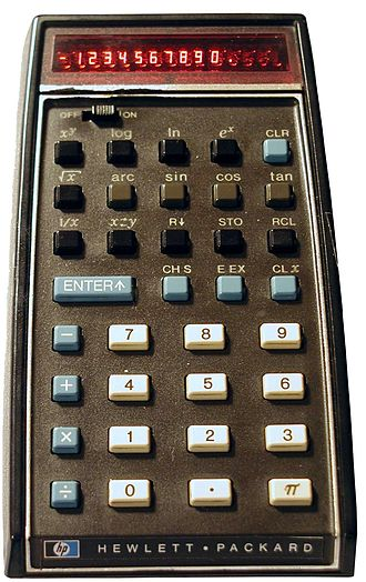 Scientific calculator - HP-35, the world's first scientific pocket calculator was introduced in 1972 by Hewlett-Packard. It used Reverse Polish notation and an LED display