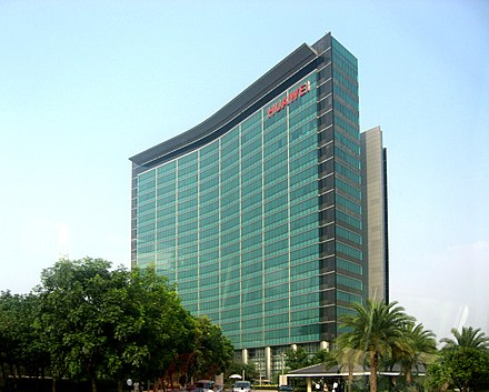 Huawei headquarters in Shenzhen. Huawei is the world's largest telecoms-equipment-maker and the second-largest manufacturer of smartphones in the world. Huawei 1.JPG
