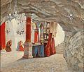 Hubert Sattler (attrib) Geburtskapelle Betlehem Andacht.jpg