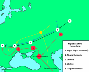 Yugra - Migration of the Hungarians from  Russia