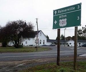 Hydesville, California - Image: Hydesville CA Interchange