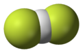 Space fill model of the bifluoride anion