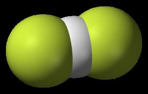 Ammonium bifluoride - Image: Hydrogendifluoride 3D vd W