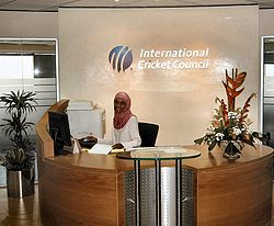 The ICC's offices in Dubai.