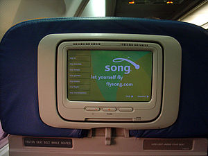 Song (airline) - In-flight entertainment system