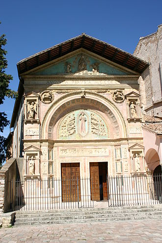 Agostino di Duccio - The marble façade of the Oratory of San Bernardino in Perugia.