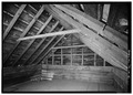 INTERIOR, ATTIC - Henry Whitehead Place, Townsend, Blount County, TN HABS TENN,5-CADCO.V,1-11.tif