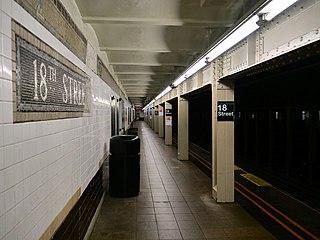 18th Street station (IRT Broadway–Seventh Avenue Line) New York City Subway station in Manhattan