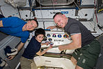 ISS-42 Terry Virts, Samantha Cristoforetti and Barry Wilmore.jpg