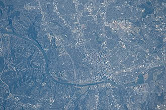Austin, Texas - Austin as seen from the International Space Station, 2016