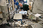 ISS-46 Tim Kopra performs regular maintenance on the Urine Processing Assembly in the Tranquility module.jpg