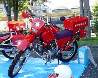 Fire bike - Ichikawa Fire Department Ambulance / Fire Honda XR motorcycle