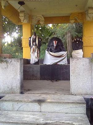 Vellalore - Idol of Hindu God Vinayaga in Karivaratharaja Temple, Vellalore