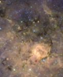 Image of the W43 star-forming region from the Spitzer Space Telescope.png