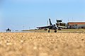 Image shows a Tornado GR4 powering down the runway at RAF Akrotiri in Cyprus. MOD 45163487.jpg