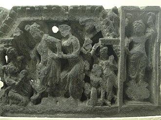 Yaśodharā - Siddhartha held by Yasodhara, Loriyan Tangai.
