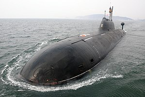 Russian submarine Nerpa (K-152) - Image: Indian Navy's TROPEX 2014 (8)