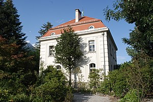 Botanical Garden of the University of Innsbruck - Botanical Garden of the University of Innsbruck administration building