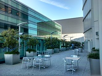 Privately owned public space - The terrace of the Intercontinental Hotel in San Francisco, CA, a privately owned public space