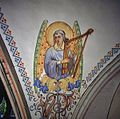 Interieur, detail van gewelfschildering in het koor - Ootmarsum - 20383833 - RCE.jpg