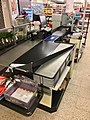 "Interior of ""Matkroken"" Supermarket grocery store in Leirvik, Stord, Norway 2018-03-10. Cashier checkout c.jpg"