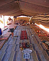 Interior of a Bedouin tent in Wadi Rum.jpg
