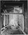 Interior view of turbine pit, showing Leffel turbine. - Fisher-Fallgatter Mill, Waupaca, Waupaca County, WI HAER WIS,68-WAUP,1-5.tif