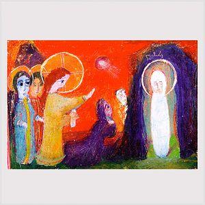 Irakli Parjiani - The Gospel of John. 35x42, paper, pastel, 1979.