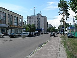 Irpin city center