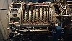 Ishikawajima-Harima J3-IHI-7D turbojet engine(cutaway model) compressor section left side view at Kakamigahara Aerospace Science Museum November 2, 2014.jpg