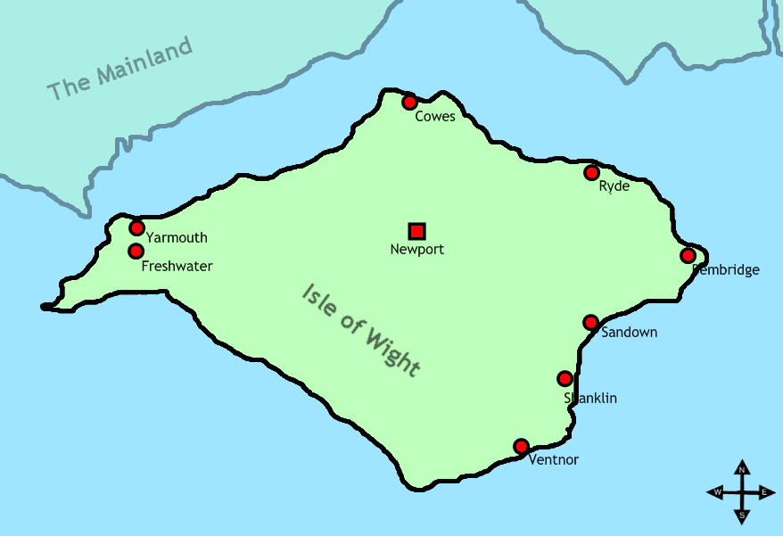 Isle of Wight Map