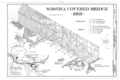 Isometric Projection, Location Map - Wawona Covered Bridge, Spanning South Fork Merced River on service road, Wawona, Mariposa County, CA HAER CAL,22-WAWO,5- (sheet 2 of 2).png