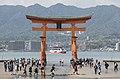 Itsukushima Floating Torii Gate, Southeast view 20190417 2.jpg