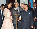 J.P. Nadda lighting the lamp at the launch of the Media Campaign of Weekly Iron and Folic Acid Supplement (WIFS) Programme, in New Delhi. The Secretary, Ministry of Health and Family Welfare.jpg